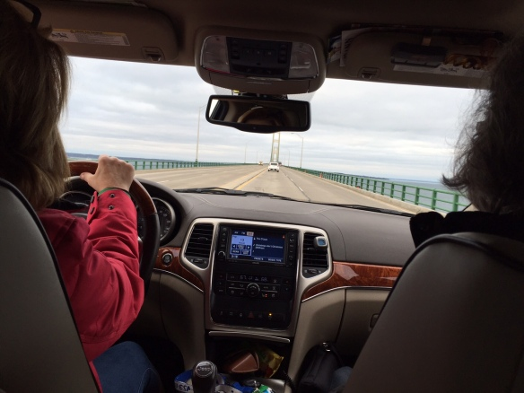 We collected my luggage, jumped in Sue's car, and we were off. We made it to Mackinaw City, crossed the bridge and pulled up with minutes to spare at the Arnold Dock to board the mighty Huron.