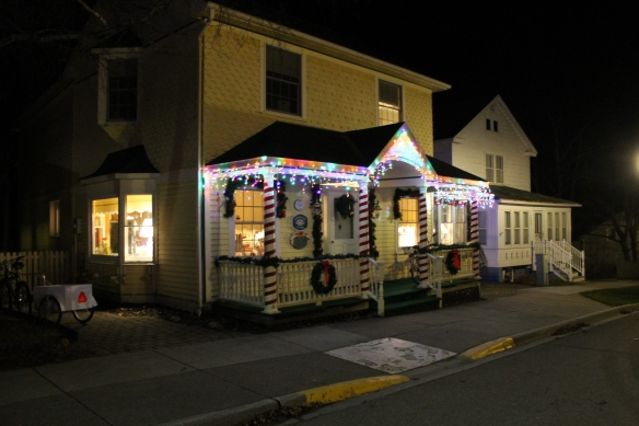 A beautifully decorated house across the street from Chambers Corner.