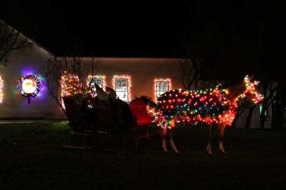 On Mackinac Santa's sleigh is drawn by a horse - of course.