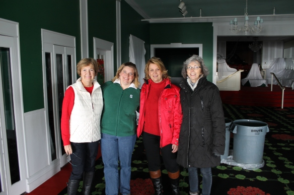 Sue, Jill, Sue and I stand with Jennifer King, the Grand Hotel's General Manager.