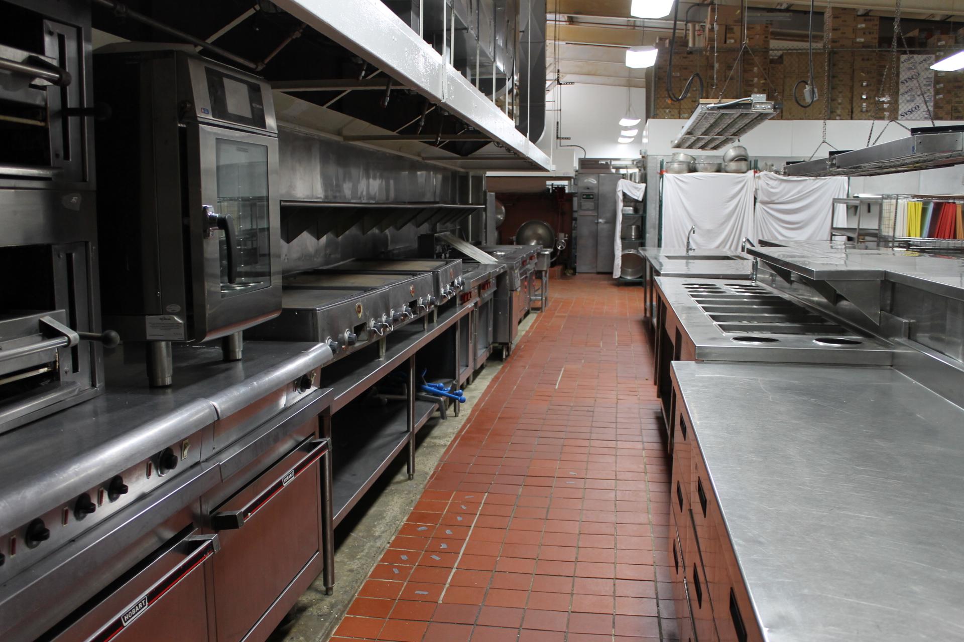 The grand hotel kitchen is massive