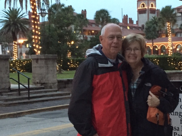 After our tour we went into St. Augustine for a wonderful dinner at the Old City Inn . . .