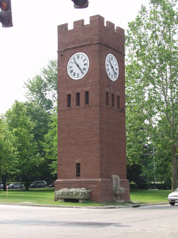Chris lives in Hudson OH and sent this photo of the Hudson Clock Tower. The tower was a gift to the town from David Hudson in the 1800's. Chris is a double-nester and also has a place in Naubinway MI in the UP.