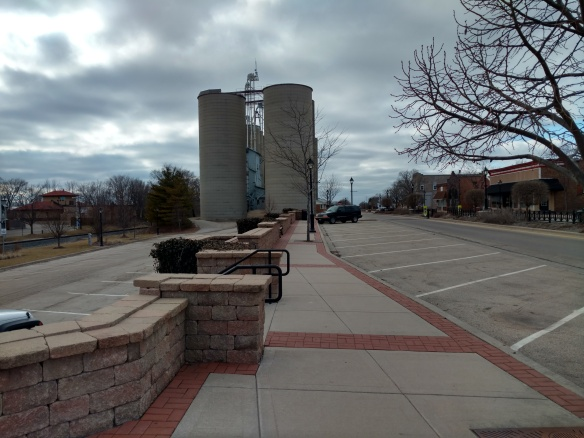 Hilde lives in Minooka IL, where these grain elevators (still in use)stand in the middle of town.