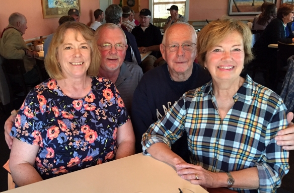 Fast forward four years. We enjoyed a long visit with these two over lunch at South Beach Grill in Crescent Beach! I so love when blog readers get in touch when they're anything nearby! Hoping Barb and Doug enjoy the rest of their Florida vacation!