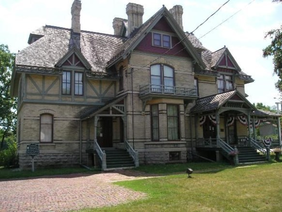 Jean lives in Appleton WI, where this beautiful Victorian home, Hearthstone, is located. Hearthstone was the first house electrified from a centrally located gydroelectric plan (Sept, 1882). Henry Rogers built the house for his wife, and the original Edison lights and chandeliers remain inuse today.