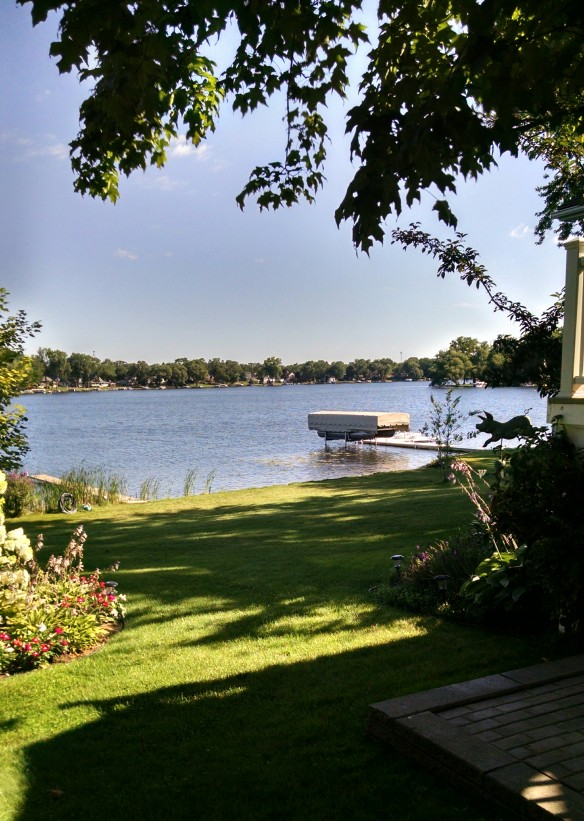 "Wolverine Lake MI is home for Joann. She says that residents call the lake ""Main Street"". Love that!"