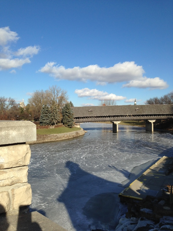 Karen S. resides in Frankenmuth MI. This is one of the town's beautiful covered bridges.