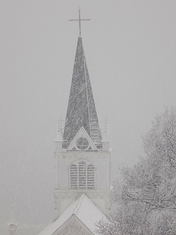 And it did. Almost white out conditions on Wednesday. (Photo: Tom Chambers)