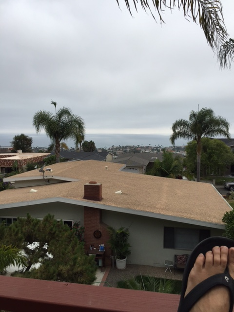 "Patty sent in this photo of her home and views in San Clemente CA ""in the thick of winter"". She also shared that she found the blog when she and her husband were thinking about buying property on the east coast and came across a website about Sunset Inlet. From there she was led to Bree's Blog! Love hearing these stories!!"
