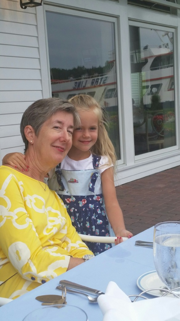 "Meet Cindy Cislak from Indianapolis IN - and her beautiful granddaughter Kira. Cindy and her husband started coming to Mackinac in 1985 with their two children, and they've come every year since. There are now 10 coming each year - including their childrens' spouses and four grandchildren. Cindy has followed the blog since the beginning, and she's come by several times to say hello at the Stuart House. In fact, Cindy may be the very first reader who came by and introduced herself to me there. Cindy says, ""Even after all these years, Mackinac is still magical!"" Amen, Cindy."
