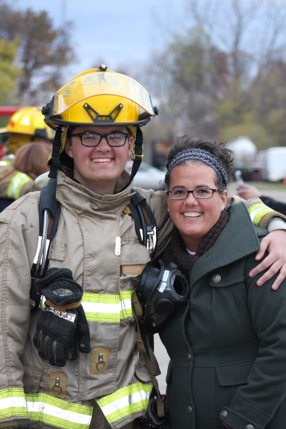 Two of my favorite people ever - DeAna and her son Trace, who just became a fireman (like his dad) in their homem of Commerce Township MI.
