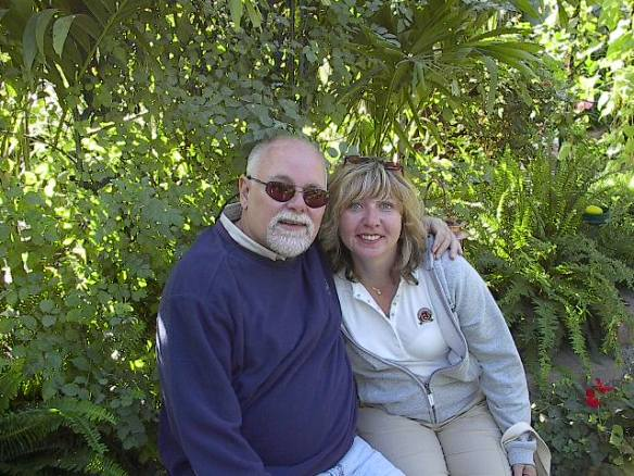 "This is Diane Boszko and her late husband Jeff at the Butterfly House on Mackinac. Diane and Jeff first visited Mackinac in 2007 and bought the best souvenir ever - an island condo. They fell in love with it that much on the first visit. Diane said, ""I know it might seem strange for me to send in this photo of me with Jeff, but whenever I'm on the island I still feel as though he is right there with me - and I always visit the Butterfly House."" Thank you Diane for sharing such a personal and poignant story. Ted and I can certainly relate to how much magic Mackinac can work with just one visit. Hugs."