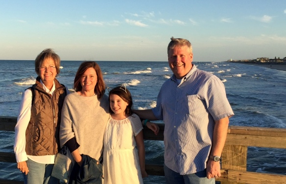 We were so excited to see Mike, Jeanine and Siena Forrester a couple of weeks ago. They drove down for dinner with us from St. Augustine, where they were enjoying Spring Break. Dinner at the Funky Pelican and a tour of the Flagler Beach pier! Love these folks!
