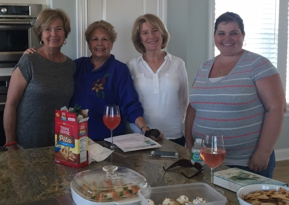 We had our first official meeting of the Sunset Inlet Book Club this past week. We had read Kate Morton's newest book, The Lake House. Fun discussion, yummy food and good wine (and Mimosas)!