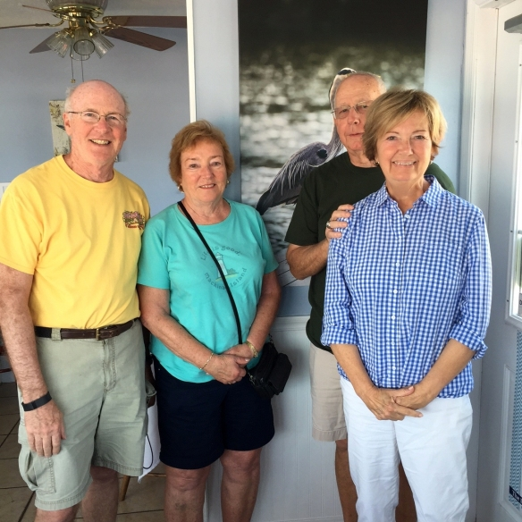 Paul and Elaine from Yale, MI spend a month in Ormond Beach each winter. We always try to see them at least once while they're down this way. It was great having lunch with them Friday at The Blue Heron. Hope you see them again on the island this summer!