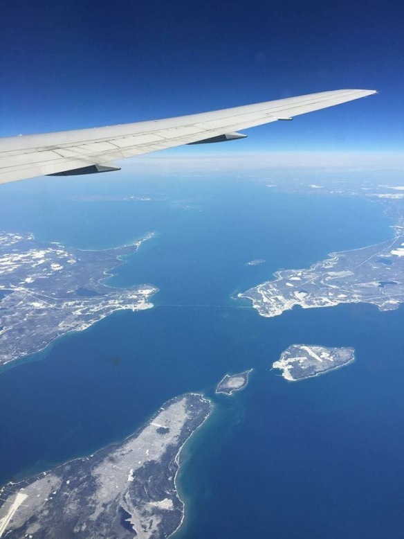 Island friend Kay Berke was returning home from Europe and was able to spot the island from thousands of feet overhead! What a photo catch, Kay!