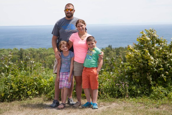 """Meet Missy and Jason Howard and their darling children Brady and Holly - Fort Wayne IN. This photo is from Fort Holmes in 2011. She found the blog researching for this trip and went back to read everything, """"not wanting to miss anything."""""""