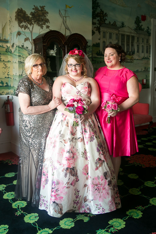 Meet Pam Pruder, bride Amy (Pam's daughter), and Amanda. This was from Amy's wedding at Grand Hotel last summer. They're from St. Clair Shores MI, and Pam's been a reader for about four years.