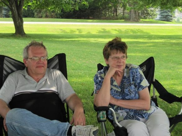 """Meet Phil and Jeanne Smith from Byron Center MI. They just moved there two weeks ago from Cincinnati OH. Jeanne stumbled across the blog while researching Mackinac Island and has been a """"silent reader"""" since 2013."""