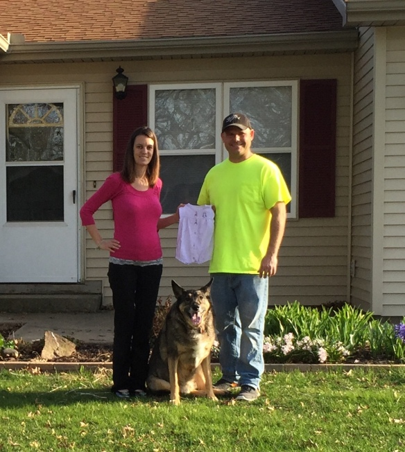 Stefanie and Nick Anderson (and Hank the dog) - Ogden IL. These folks were married at the Harbor View Inn in 2010 and are expecting their first baby in August. They were back on Mackinac for their 5th anniversary. Stefanie's been reading the blog for years.