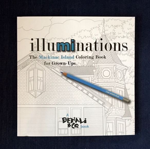 This is the third in a series of coloring books for people of any age, and Mackinac Island's many architectural, thematic and natural treasures lend themselves wonderfully to the current craze of adult coloring books.