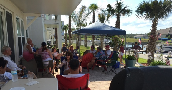 Here in Sunset Inlet we had a wonderful party today that brought our entire neighborhood together for food and fellowship.