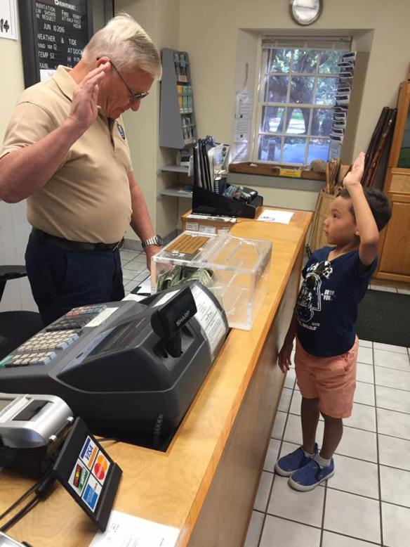 . . . and was sworn in by Mr. Ernie as an official Junior Ranger!