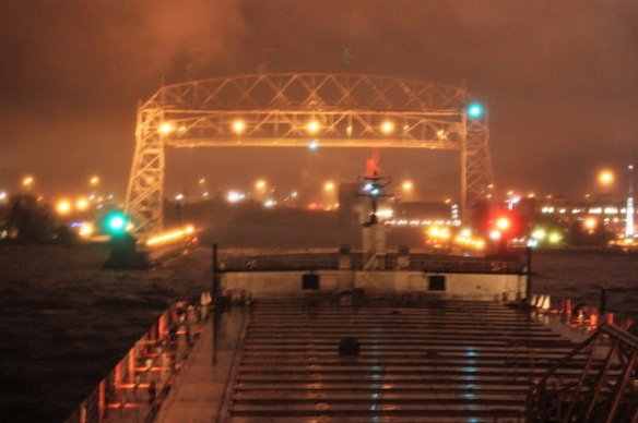 Duluth, Minnesota from the deck of the Paul R.