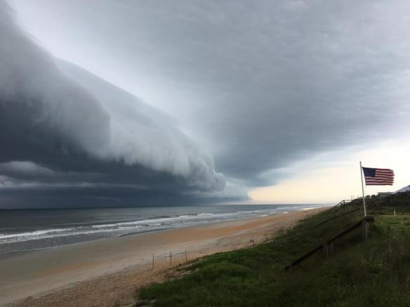 An amazing shelf cloud forming over the beach early this morning. (Photo: Neighbor Kevin Freedman)