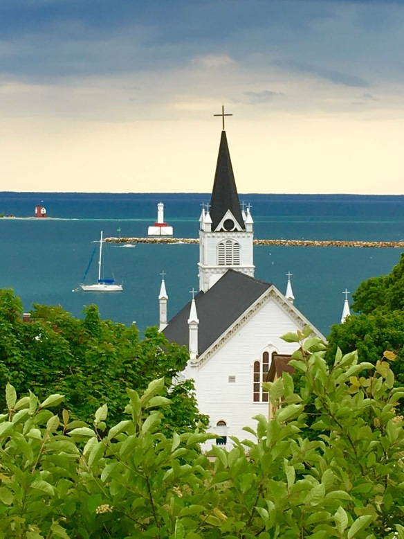 Another view of St. Anne's - this one from the West Bluff. (Photo: Maryanke Alexander)