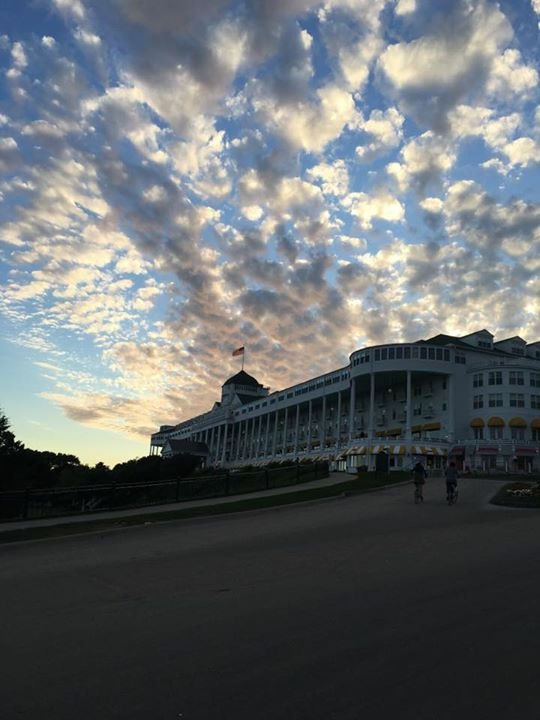 A great catch of interesting clouds over Grand Hotel. (Photo: Max Jones)