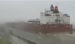 Leaving Duluth, via a webcam capture by Jill Sawatzki.