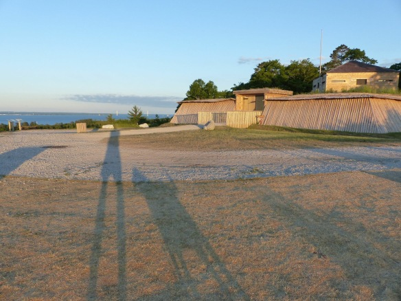 It might have been on that same early morning that Clark Bloswick and his faithful dog were creating long shadows at Fort Holmes.