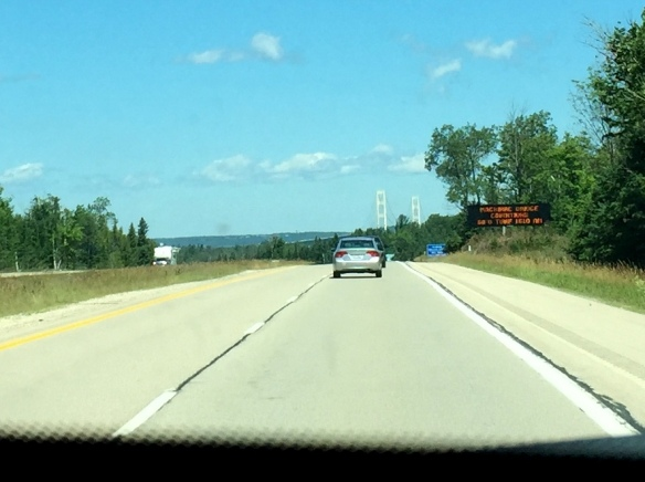 When you top that little rise and see the Mackinac Bridge towers for the first time, you know you've almost arrived!