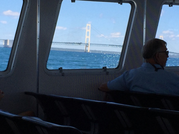 My heart was about to sail out of my chest as we passed the bridge and turned toward the island.