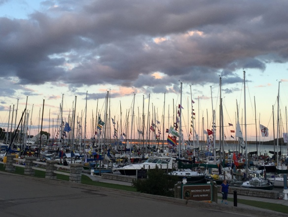 All the boats in the Port Huron to Mackinac race were safely in and crowded into the marina. Such a colorful, exciting event, and next week it will happen all over again as the Chicago to Mackinac race begins!