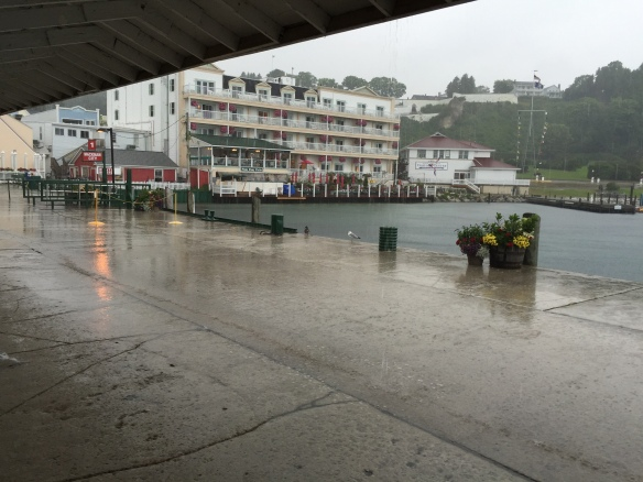 Loving Mackinac - even in the rain!