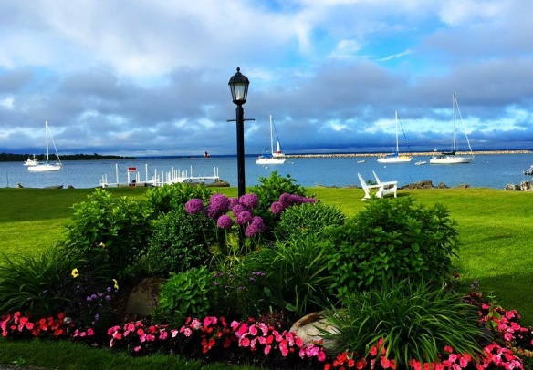 Friend Sandi Steensma took this photo of the Straits from near her home in downtown Mackinac.