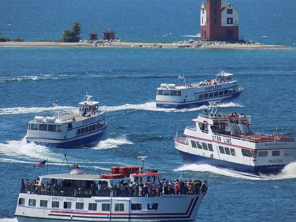 . . . and every one of them arrived on one of these ferry lines -
