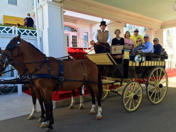 Through special permission from Grand Hotel our group loaded on a beautiful carriage drawn by gorgeous Hackneys and driven by friend Ben Mosley for a whirlwind tour of Mackinac.