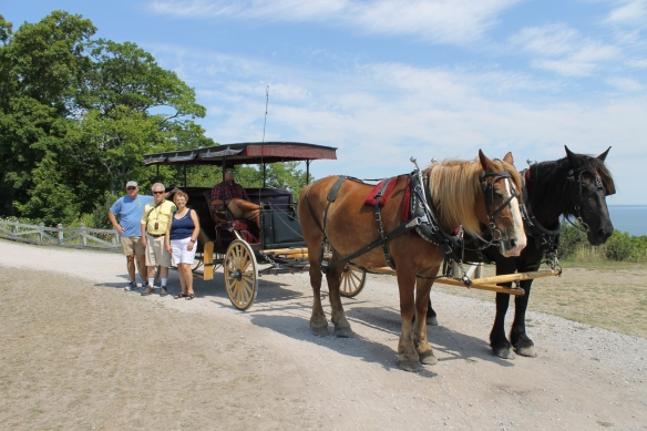 We had a great private carriage tour set up by Joe Plaza (special thanks to Blake, our tour guide and driver). The tour included many special spots on Mackinac - like Fort Holmes . . .