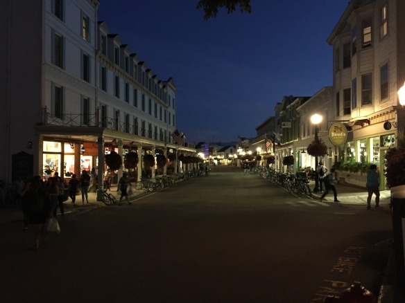 Downtown Mackinac in the evening is so peaceful compared to a busy summer day.
