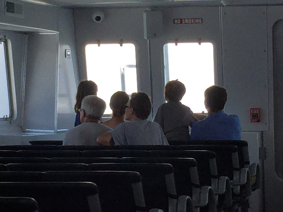 I love riding the ferry and picking out first time visitors to the island. They always sit in the front rows (especially if there are children). I remember doing exactly the same thing about the first 20 times I rode the ferry, but that first time can't be beat for excitement.