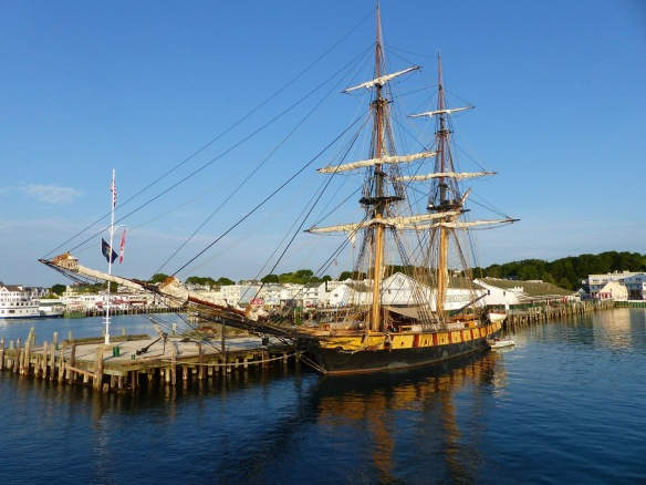 Robert McGreevy, great shot of the US Brig Niagara which stayed overnight