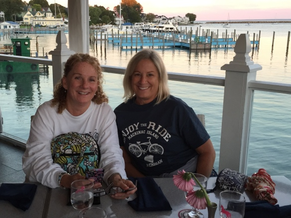 Pam and Denise - two sisters who LOVE Mackinac!