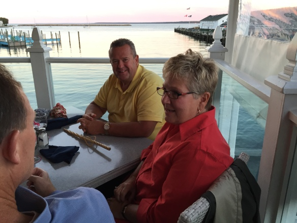 Mike and Pam Day - they spend a month on the island both in the spring and in the fall.