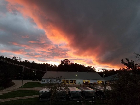 Gorgeous sunset over the big barn by neighbor and friend Eugenia Murray.