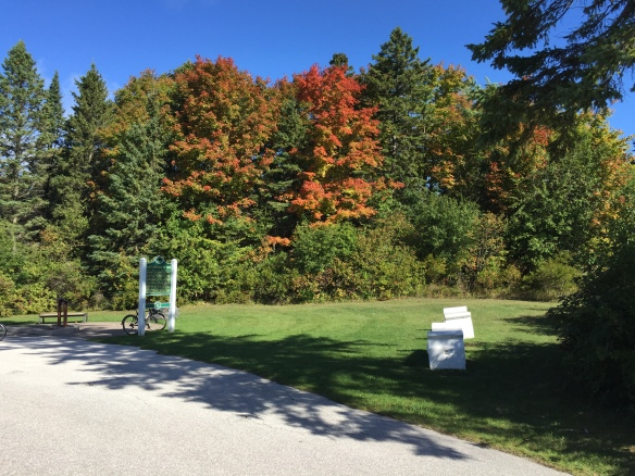 We decided to cut through the island on British Landing Road, enjoying lot of fall color along the way.