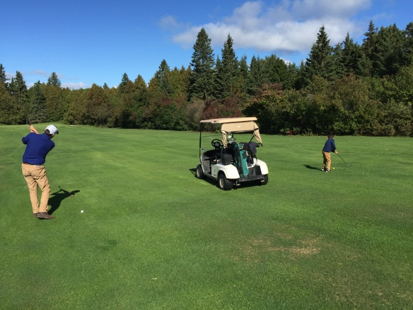 . . . to play 9 holes of golf on the course's last day of the season.